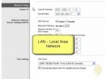 Wireless Network Setup – LAN and WAN Settings