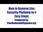 Remove Live Security Platinum in 4 Easy Steps