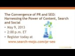 Mojo Minute: The Convergence of PR and SEO