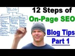 On-Page SEO – Learn the 12 Steps of On-Page SEO – Blog Tips Part 1