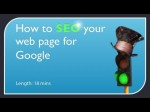 SEO Your Web Page for Google